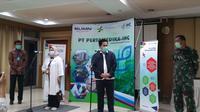 Menteri Badan Usaha Milik Negara (BUMN) Erick Thohir melakukan kunjungan guna mengecek persiapan Rumah Sakit Pertamina Jaya. (Athika/Liputan6.com)