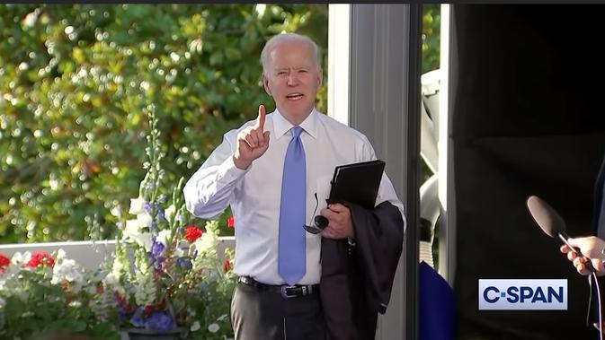 Presiden AS Joe Biden emosi ketika ditanya tentang Vladimir Putin. Dok: C-SPAN