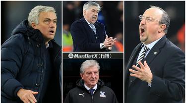 Berikut ini daftar pelatih top dunia yang sering dipecat. Diantaranya ada Jose Mourinho, Claudio Ranieri dan Rafael Benitez. (Foto Kolase AFP)