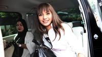 Pemain sinetron Kirana Larasati saat di ruang sidang di Pengadilan Agama Jakarta Selatan, Kamis (15/06/2017). Kirana menghadiri sidang cerai ke 2 dengan agenda pembacaan materi gugatan.