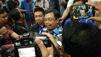 Ketua DPP Partai Demokrat Herman Khaeron mengaku banyak kader yang bertanya dan bingung atas sikap Nashrudin Azis di Pilpres 2019. Foto (Liputan6.com / Panji Prayitno)