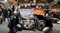 Rombongan Suryanation Motorland yang terdiri dari para builder Indonesia mendapat banyak ilmu selama tiga hari mengikuti Custombike Show 2018 Kota Bad Salzuflen, Jerman. (ist)