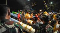 Festival Meriam Karbit menyambut Lebaran di Pontianak, Kalimantan Barat. (Foto: Pemkot Pontianak/Liputan6.com/Raden AMP)