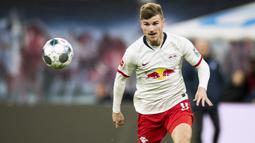 Timo Werner (53 juta euro) - Chelsea melabuhkan Werner dengan harga 53 juta euro dari RB Leipzig. Transfer tersebut membuat Werner menjadi pemain Jerman dengan transfer termahal sepanjang sejarah saat ini. (AFP/Odd Andersen)