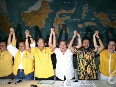 Sejumlah politisi senior partai Golkar bertemu untuk menyelamatkan Goklar (Liputan6/Johan Tallo)