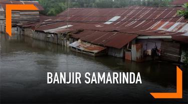 Permukiman warga di Samarinda, Kalimantan Timur masih dikepung banjir. Hingga kini ribuan warga terdampak bencana banjir.