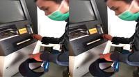 Mesin ATM ditutup dengan perekat (Sumber: Instagram/uum_main_hujan)