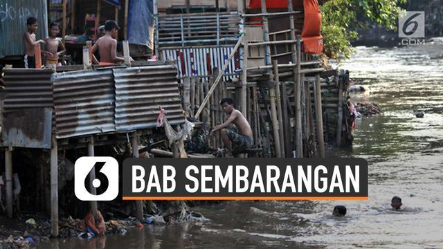 Jakarta hingga kini belum terbebas dari kebiasaan BAB sembarangan.