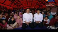 Presiden Jokowi menyampaikan sambutan penutupan Asian Games di tengah pengungsi gempa Lombok, NTB
