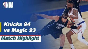 Berita video highlight NBA, New York Knicks menang tipis atas Orlando Magic 94-93, Jumat (19/3/2021)