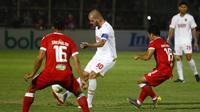 Duel Badak Lampung FC Vs PSM Makassar berakhir imbang di Stadion Sumpah Pemuda, Bandar Lampung, Minggu (15/9/2019). (Bola.com/Abdi Satria)