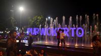 Aktifitas warga di pusat kota Purwokerto tetap normal usai serangan atau penembakan Mako Brimob, Watumas, Purwokerto utara. (Foto: Liputan6.com/uhamad Ridlo)