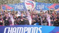 Persik Kediri meraih juara Liga 3 2018. (Bola.com/Vincentius Atmaja)