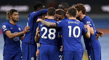 FOTO: Tekuk Manchester City 2-1, Chelsea Pastikan Perebutan Gelar Juara Liga Inggris Belum Berakhir - Tim Chelsea