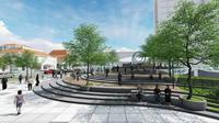 Desain pembangunan alun-alun Surabaya (Foto:Liputan6.com/Dian Kurniawan)