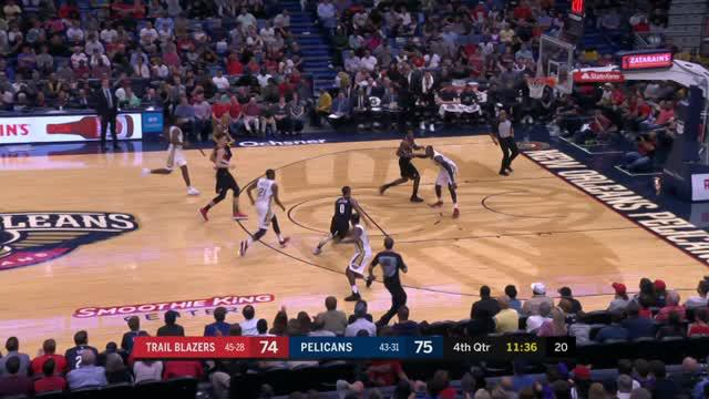Berita video game recap NBA 2017-2018 antara Portland Trail Blazers melawan New Orleans Pelicans dengan skor 107-103.