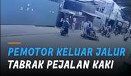 Sebuah rekaman CCTV memperlihatkan pemotor dengan kecepatan tinggi diketahui kehilangan kontrol ketika melewati belokan tajam.