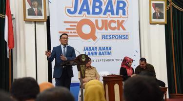 Program Jabar Quick Response di Kantor Gubernur Jawa Barat, Bandung, 18 September 2018.