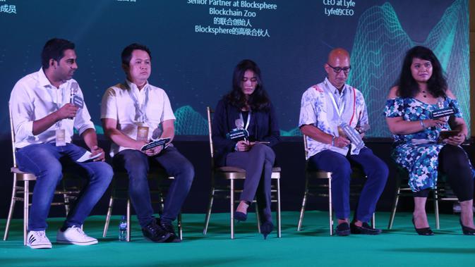 Pembicara di World Blockchain Forum (WBF) Technology Conference 2019. Liputan6.com/Keenan Pasha