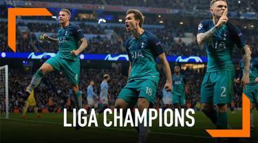 7 Gol tercipta pada lanjutan laga leg 2 perempat final antara Manchester City berhadapan dengan Tottenham Hotspurs. Dengan hasil ini Spurs berhak maju ke babak selanjutnya walaupun kalah, dengan hasil agregat seri 4-4. Spurs berhak maju pada babak se...