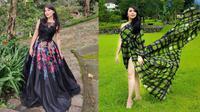 Gaya Pemotretan Thessa Kaunang Dengan Dress Panjang, Tampil Menawan. (Sumber: Instagram/tessakaunang_tuiit)