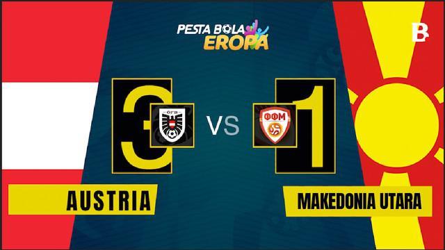 Berita video motion grafis laga Grup C Euro 2020 antara Timnas Aurstria melawan Makedonia Utara pada Minggu (13/6/2021) malam hari WIB.