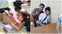 Kelakuan Aneh Siswa Saat Belajar di Kelas Ini Bikin Tepuk Jidat (sumber:Instagram/ receh.id dan recehtapisayang)
