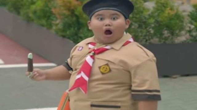 bocah di pembukaan Asian Games jadi viral (foto: instagram/@fairel_sbi)