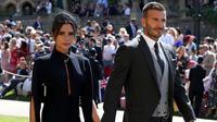 Victoria Beckham mengerti fesyen lebih baik dari para tamu Royal Wedding. (CHRIS RADBURN / POOL / AFP)