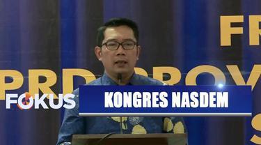 Keberadaan Gubernur Jawa Barat Ridwan Kamil di Kongres Partai Nasdem menjadi sinyal politik.