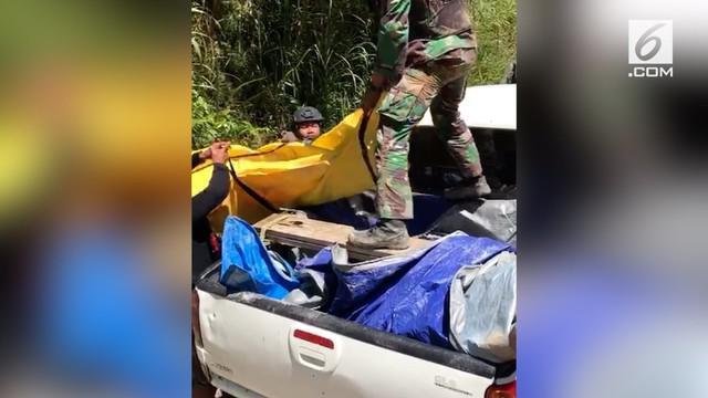 16 jenazah korban pembantaian KKB di Papua berhasil dibawa ke Timika.