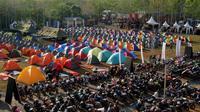 Ribuan bikers Borneo kemping bareng dalam acara Suryanation Ridescape. (ist)