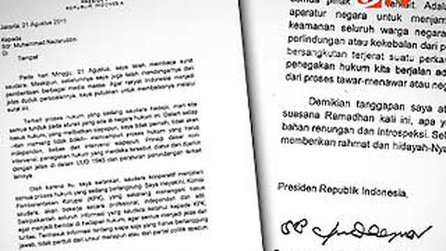 Sby Juga Bacakan Surat Balasan Di Cikeas News Liputan6com