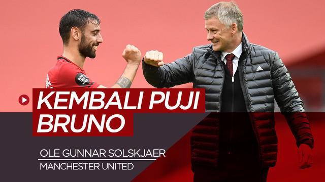 Berita video wawancara Ole Gunnar Solksjaer soal performa luar biasa Bruno Fernandes di Manchester United sejauh ini.
