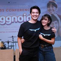 Sheila Dara saat Jumpa pers dan screening film Eggnoid di XXI Plaza Senayan, Jakarta Pusat, Kamis (28/11/2019). (Daniel Kampua/Fimela.com)