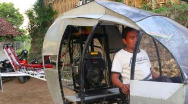 Modal Rp 30 Juta, Pria Ini Rakit Helikopter Sendiri untuk Atasi Macet