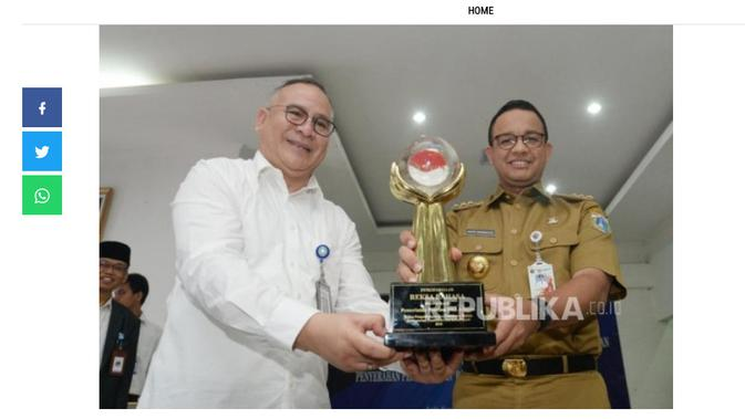 Cek Fakta Liputan6.com menelusuri klaim Anies mendapat penghargaan PSBB terbanyak