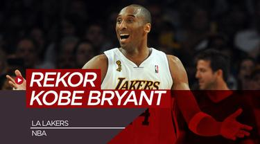 Berita video 10 rekor Kobe Bryant di NBA bersama Los Angeles Lakers.