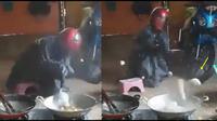 pria masak jadi viral (foto: twitter/@jayakabajay)
