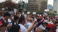 Galang Simpatisan, Relawan Luncurkan Aplikasi Dukung Jokowi 2019. (Liputan6.com/Muhammad Radityo Priyasmoro)