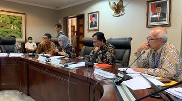Staf Khusus Presiden Bidang Komunikasi Adita Irawati saat menghadiri peluncuran infomudik.go.id di Kantor Staf Presiden. (Istimewa)