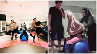 Momen Dinda Hauw Saat Yoga. (Sumber: Instagram.com/asrikasura dan Instagram.com/reydin_10)