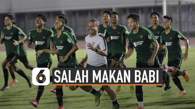 Timnas Indonesia U-22 tak sengaja makan daging babi di SEA Games 2019. Pesta olahraga Asia Tenggara ini berlangsung di Filipina.