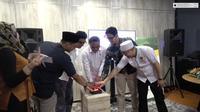 Wakil Ketua Umum Dewan Masjid Indonesia (DMI) Syafruddin meresmikan Tawaf Tv di Jakarta. (Istimewa)
