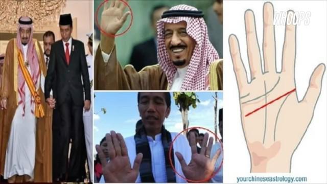 Garis tangan yang dimiliki Jokowi dan Raja Salman konon memiliki sejumlah makna yang mengejutkan