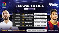 Live streaming pertandingan Liga Spanyol pekan ke-18 dapat disaksikan melalui platform Vidio. (Dok. Vidio)
