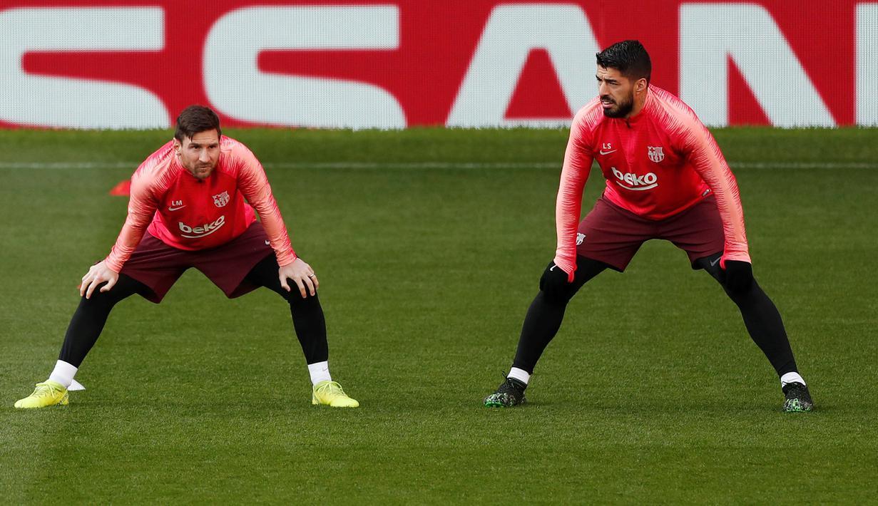 FOTO Keakraban Messi Dan Suarez Saat Berlatih Jelang Hadapi