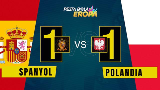 Berita video motion grafis, Spanyol melawan Polandia dalam matchday kedua Grup A Euro 2020.