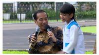 Presiden Jokowi bertemu penyintas kanker anak. (Foto: Youtube/Kementerian Sekretariat Negara RI)