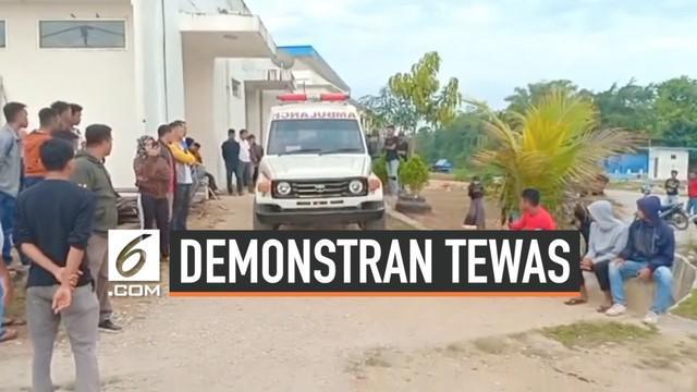 Korban tewas dalam aksi demonstrasi mahasiswa di Kendari, Sulawesi Tenggara bertambah. Korban kedua ini atas nama Yusuf Kardawi meninggal setelah mengalami luka berat.